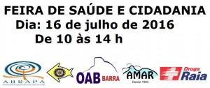 FEIRA DE SAÚDE E CIDADANIA NA SAO FCO DE PAULA 2016