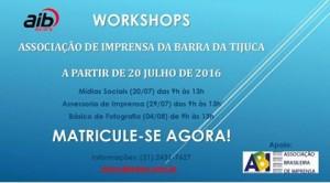 WORKSHOPS AIB JULHO 2016